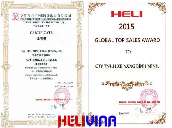 Đại lý xe nâng hàng heli độc quyền số 1 tại Việt Nam