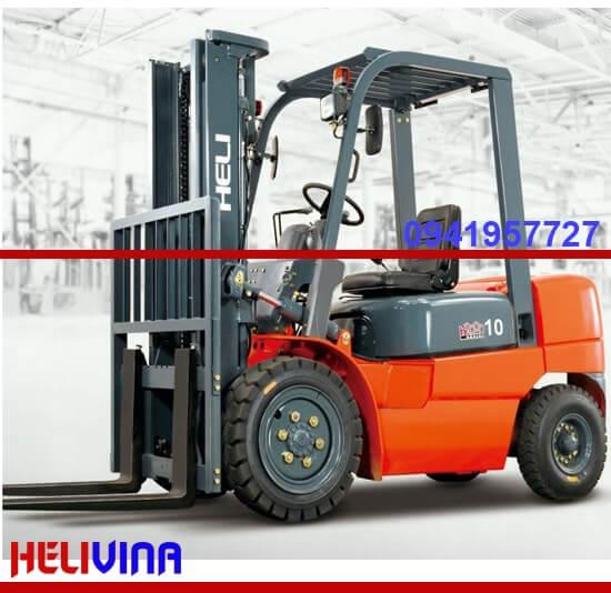 Xe nâng dầu 1 tấn heli h2000